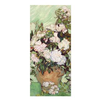 Florero de Vincent van Gogh con los rosas rosados Lona Personalizada