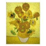 Florero de Vincent van Gogh con quince girasoles 1 Foto