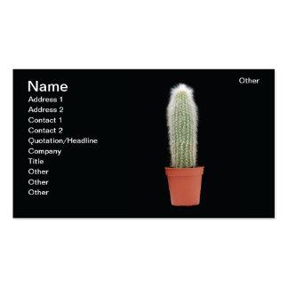 Florero del cactus tarjetas personales
