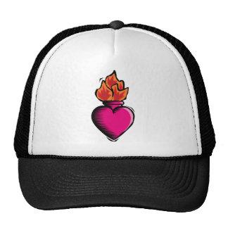 Florero del calor con el fuego gorras