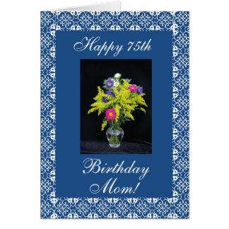 Florero del cumpleaños de la madre felicitacion