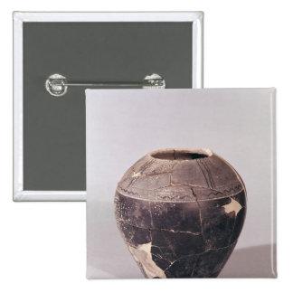 Florero del enlucido cerámico adornado con las lín pin cuadrada 5 cm