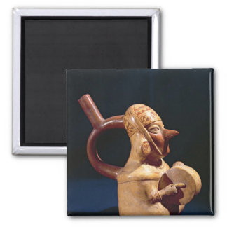 Florero del estribo en la forma imán cuadrado