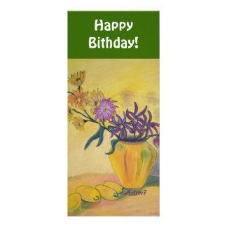 Florero del feliz cumpleaños de la señal tarjetas publicitarias personalizadas