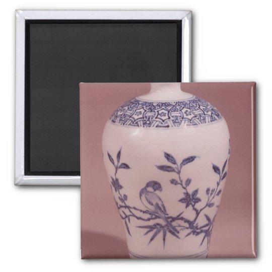 Florero del flor, dinastía de Ming Imán Cuadrado