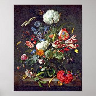 florero en enero Davidsz de Heem Poster