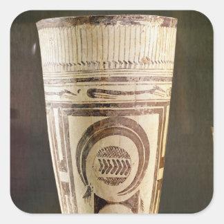 Florero, estilo I, de Susa, Irán, 5000-4000 A.C. Pegatina Cuadrada