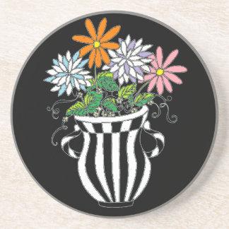 Florero floral colorido posavasos personalizados