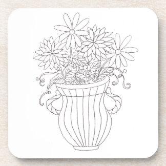Florero floral posavasos