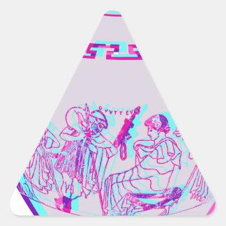 Florero griego pegatina triangular