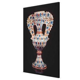 florero Lata-esmaltado con la decoración del lustr Impresiones En Lienzo Estiradas