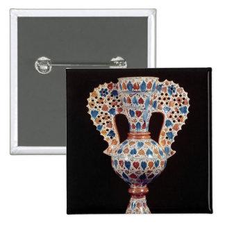 florero Lata-esmaltado con la decoración del lustr Pin Cuadrada 5 Cm