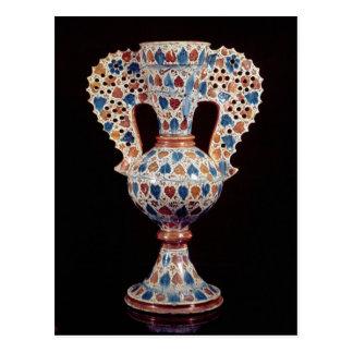 florero Lata-esmaltado con la decoración del lustr Tarjetas Postales