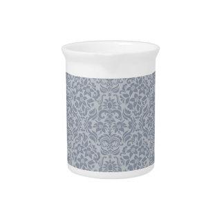Florero o jarra floral gris del boda del damasco