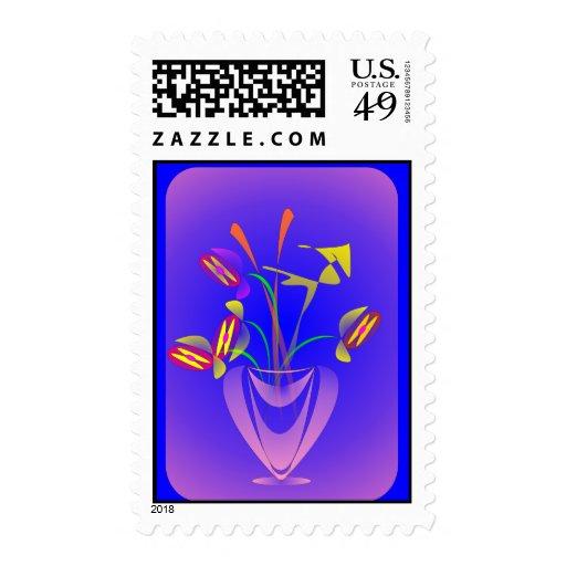 Florero púrpura sellos