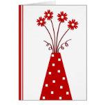 Florero rojo - tarjeta