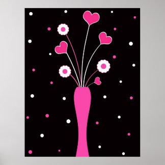 Florero rosado - poster