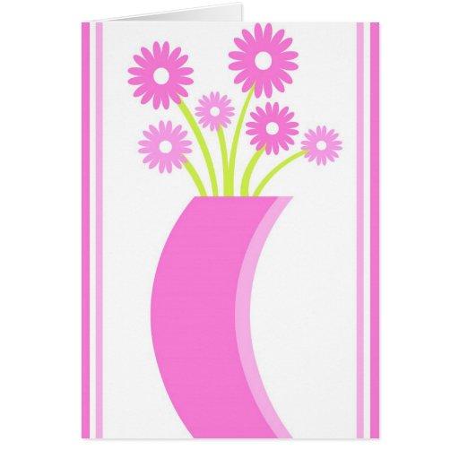 Florero rosado - tarjeta