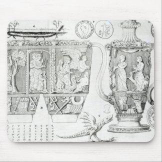 Florero y diseños 1749 de Etruscan Alfombrilla De Raton
