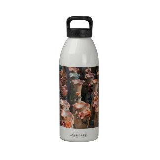 Floreros adornados múltiples botellas de agua reutilizables