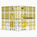 Floreros amarillos modernos en tela escocesa