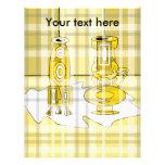 Floreros amarillos modernos en tela escocesa membretes personalizados