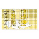Floreros amarillos modernos en tela escocesa plantilla de tarjeta personal