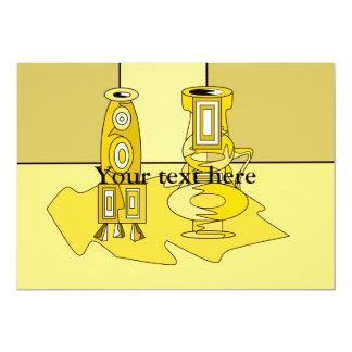 Floreros amarillos modernos invitacion personal