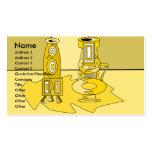 Floreros amarillos modernos tarjetas de visita