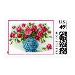 Floreros con los sellos de los rosas