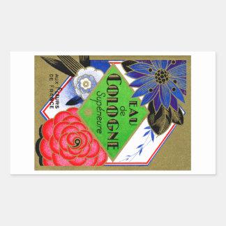 Flores 1925 de Superieure del perfume de Francia Pegatina Rectangular