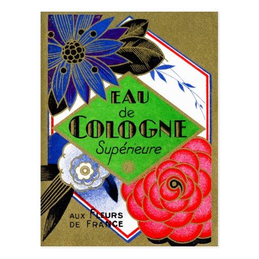 Flores 1925 de Superieure del perfume de Francia Tarjeta Postal