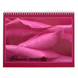 Flores 2009 calendarios de pared