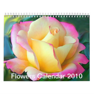 Flores 2010 calendario de pared