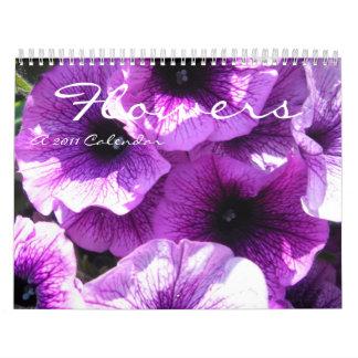 Flores 2011 calendarios