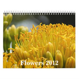Flores 2012 calendario de pared
