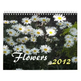 Flores 2012 calendarios de pared