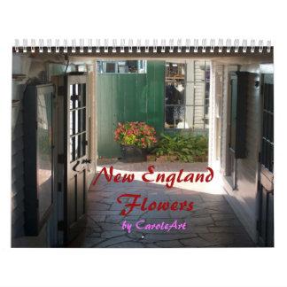 Flores 2012 de Nueva Inglaterra Calendario