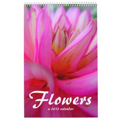 Flores 2013 calendarios