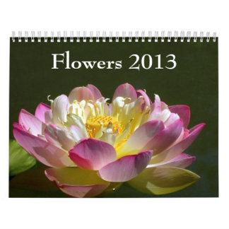 Flores 2013 calendarios de pared