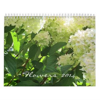Flores 2014 calendario de pared