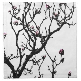 Flores 2 de la magnolia servilletas imprimidas