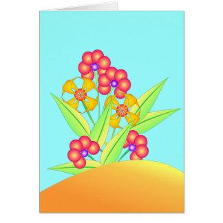 Flores 2 de la primavera tarjeta de felicitación