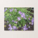 Flores 2 de la púrpura rompecabeza con fotos