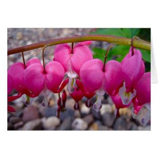 Flores 2 del corazón sangrante tarjeta pequeña