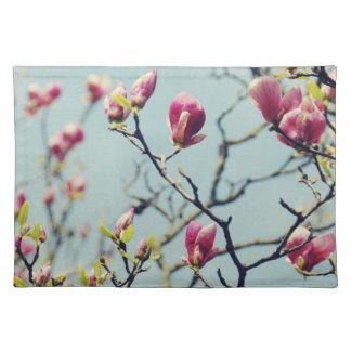 Flores 3 de la magnolia mantel individual