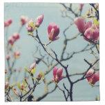 Flores 3 de la magnolia servilleta de papel