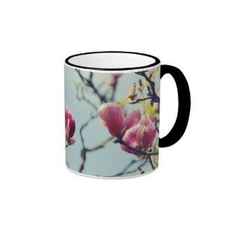 Flores 3 de la magnolia taza de café