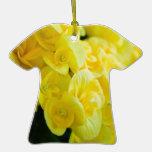 Flores 415 del amarillo ornamento para arbol de navidad