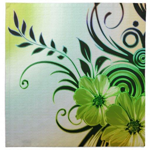 Flores 4 de la diversión servilletas imprimidas